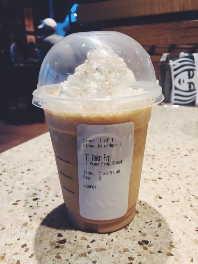 Starbuck's Pumpkin Spice Frappuccino